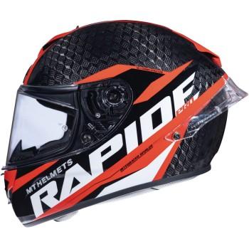 Casco MT RAPIDE Pro Carbon C5 Brillo Rojo