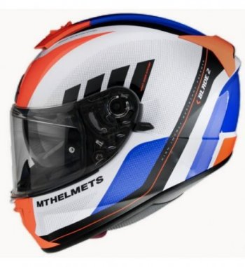 Casco MT BLADE 2 SV Plus A4 Brillo Naranja Flúor