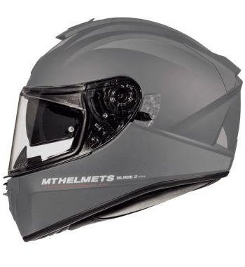Casco MT BLADE 2 SV Solid A2 Brillo Titanio