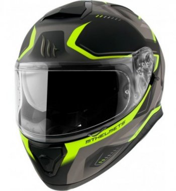 Casco MT THUNDER 3 SV Turbine C3 Mate Amarillo Flúor