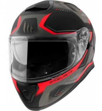 Casco MT THUNDER 3 SV Turbine C5 Mate Rojo
