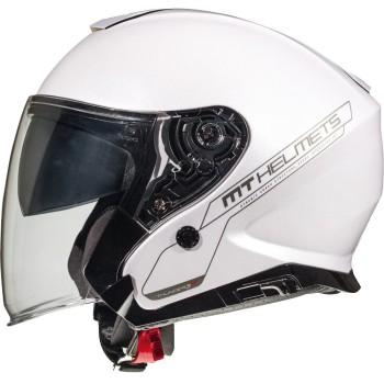 Casco MT THUNDER 3 SV JET Solid A0 Brillo Blanco Perlado