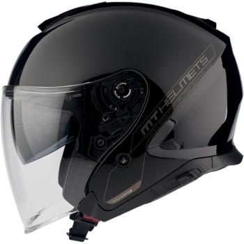 Casco MT THUNDER 3 SV JET Solid A1 Brillo Negro