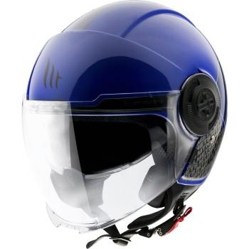 Casco MT VIALE SV Break A7 Brillo Azul
