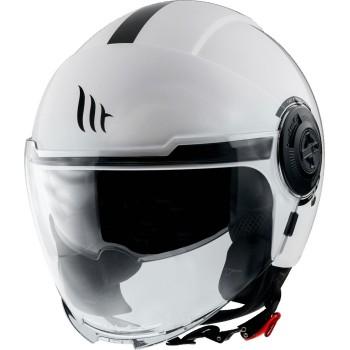Casco MT VIALE SV Solid A0 Brillo Blanco Perlado
