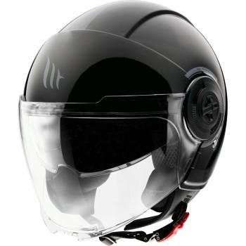 Casco MT VIALE SV Solid A1 Brillo Negro