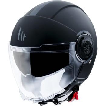 Casco MT VIALE SV Solid A1 Mate Negro