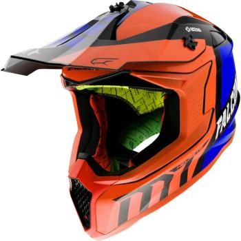 Casco MT FALCON Warrior C4 Brillo Naranja Flúor Perlado