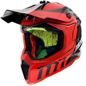 Casco MT FALCON Warrior C5 Brillo Rojo Perlado