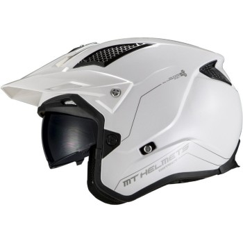 Casco MT DISTRICT SV Solid A0 Brillo Blanco Perlado