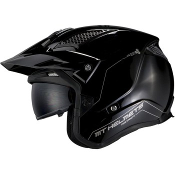 Casco MT DISTRICT SV Solid A1 Brillo Negro