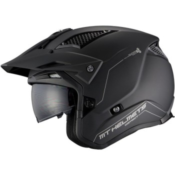 Casco MT DISTRICT SV Solid A1 Mate Negro