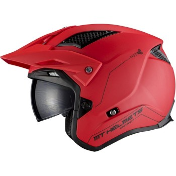 Casco MT DISTRICT SV Solid A5 Mate Rojo