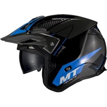 Casco MT DISTRICT SV Summit H7 Brillo Azul