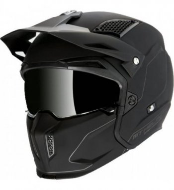 Casco MT STREETFIGHTER SV Solid A1 Mate Negro