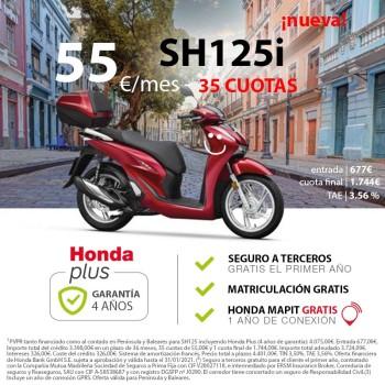 Honda SH125i 2020 con Topbox